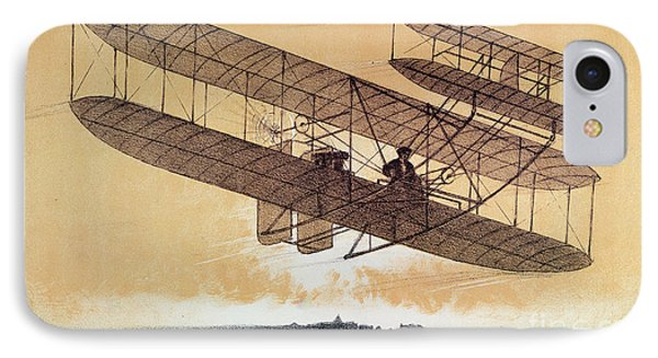 Wilbur Wright In His Flyer IPhone Case by Leon Pousthomis