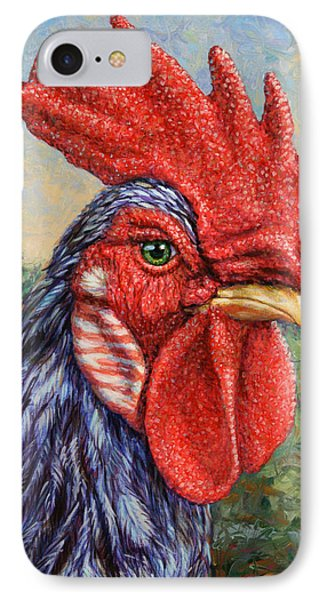 Wild Blue Rooster Phone Case by James W Johnson