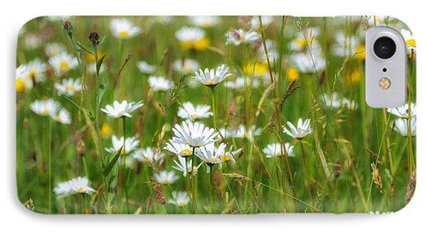 Wild Flower Meadow IPhone Case by Janet Burdon