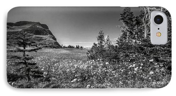 Wild Mountain Flowers Glacier National Park Phone Case by Rich Franco