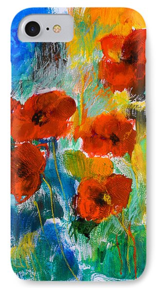 Wild Poppies IPhone Case by Elise Palmigiani