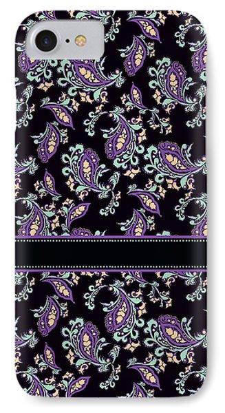 Wild Purple Paisley IPhone Case by Jenny Armitage