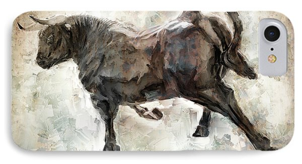 Wild Raging Bull IPhone Case by Daniel Hagerman
