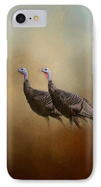 Wild Turkey At Shiloh IPhone Case by Jai Johnson
