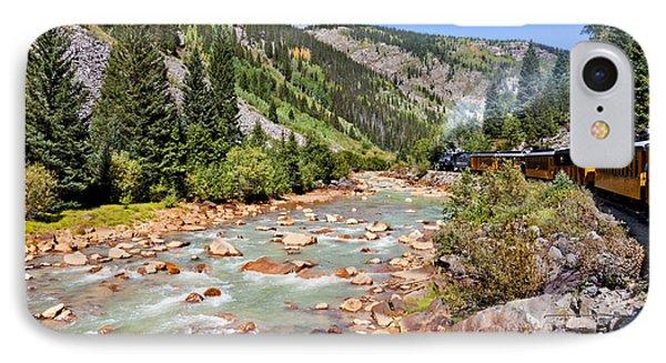Wild West Train Ride Along The Animas River From Durango To Silverton Colorado Phone Case by Karen Stephenson