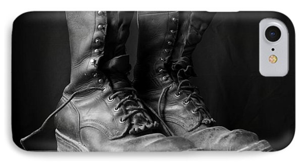 Wildland Fire Boots Still Life IPhone Case by Kerri Mortenson