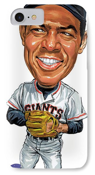 Willie Mays IPhone Case by Art