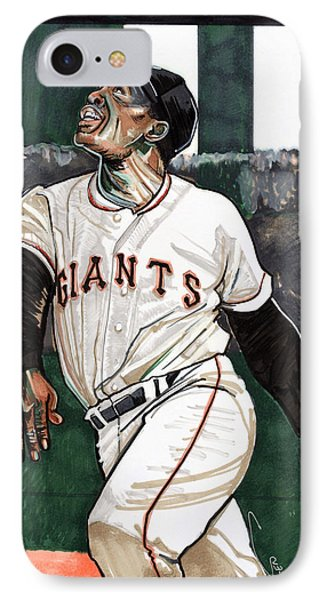 Willie Mays IPhone Case by Dave Olsen