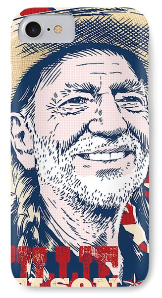 Willie Nelson Pop Art IPhone 7 Case by Jim Zahniser