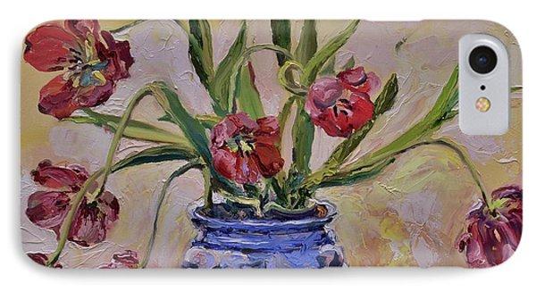 Wilting Tulips Phone Case by Donna Tuten