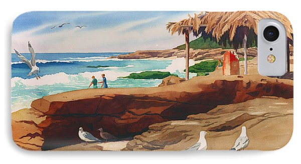 Wind 'n Sea Beach La Jolla California IPhone Case by Mary Helmreich