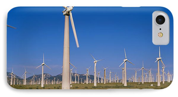Wind Turbines In A Field, Mojave IPhone Case by Panoramic Images