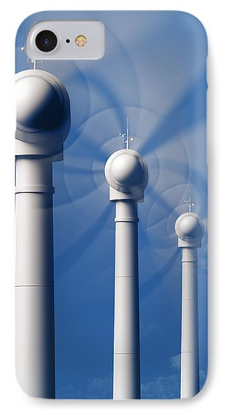 Wind Turbines In Motion From The Front IPhone Case by Johan Swanepoel