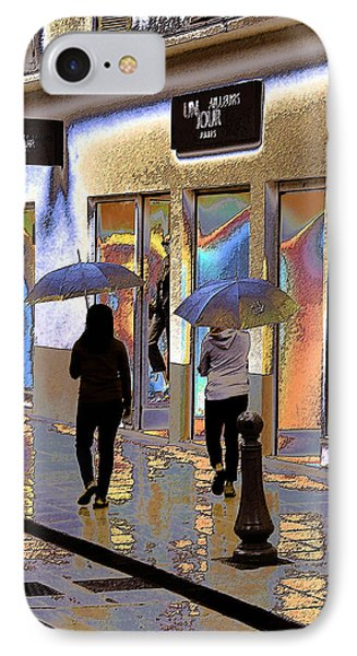Window Shopping In The Rain Phone Case by Ben and Raisa Gertsberg