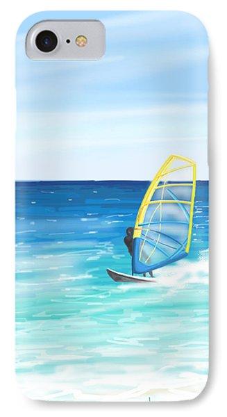 Windsurf IPhone Case by Veronica Minozzi