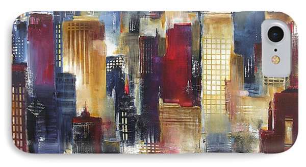 Windy City Nights IPhone Case by Kathleen Patrick