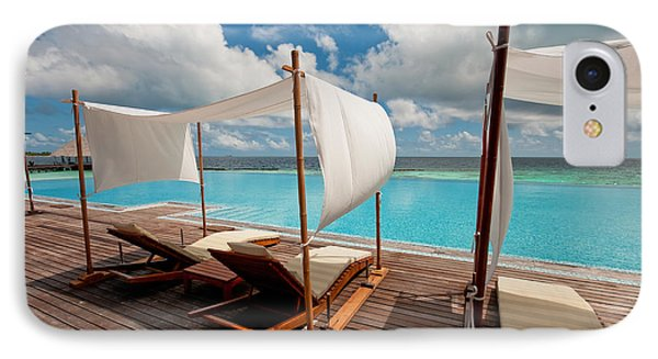Windy Day At Maldives Phone Case by Jenny Rainbow