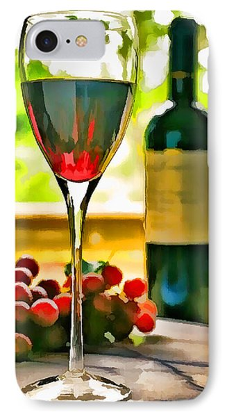 Wine And Grapes In The Window IPhone Case by Elaine Plesser