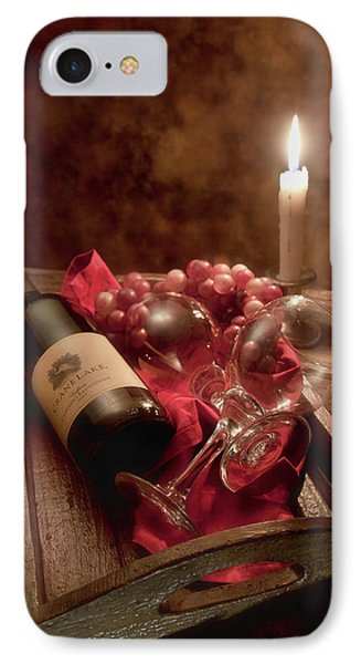 Wine By Candle Light I IPhone Case by Tom Mc Nemar
