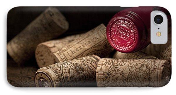 Wine Corks Still Life Iv IPhone Case by Tom Mc Nemar