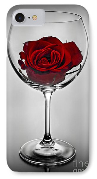 Wine Glass With Rose IPhone 7 Case by Elena Elisseeva