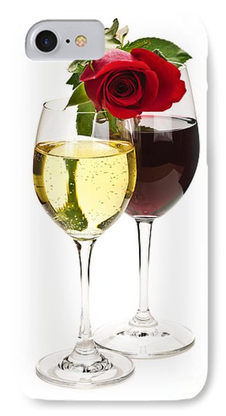 Wine With Red Rose IPhone Case by Elena Elisseeva