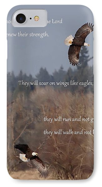 Wings Like Eagles IPhone Case by Angie Vogel