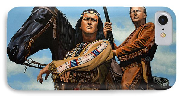 Winnetou And Old Shatterhand IPhone Case by Paul Meijering