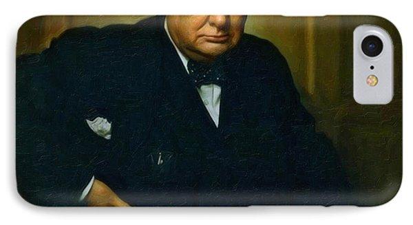 Winston Churchill IPhone Case by Adam Asar