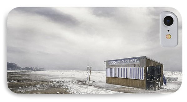 Winter At The Cabana IPhone Case by Scott Norris