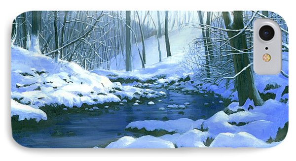 Winter Blues - Sold IPhone Case by Michael Swanson