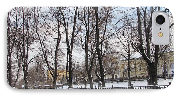 Winter Boulevard IPhone Case by Anna Yurasovsky