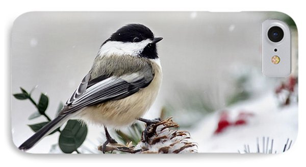 Winter Chickadee IPhone 7 Case by Christina Rollo