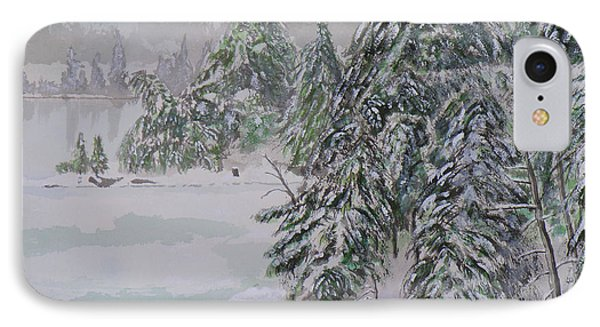 Winter Chill St Lawrence River Phone Case by Robert P Hedden