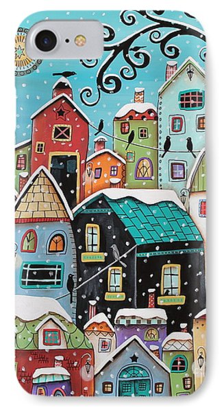 Winter City IPhone Case by Karla Gerard