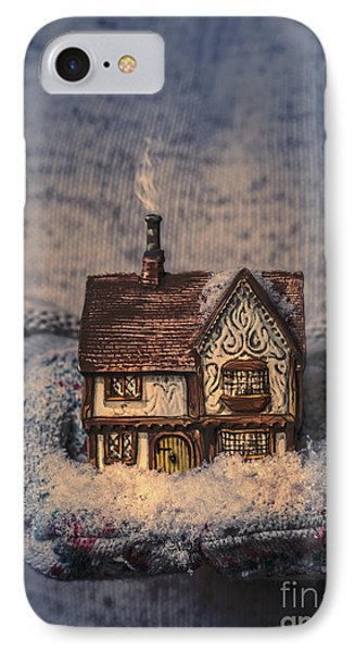 Winter Cottage IPhone Case by Amanda Elwell