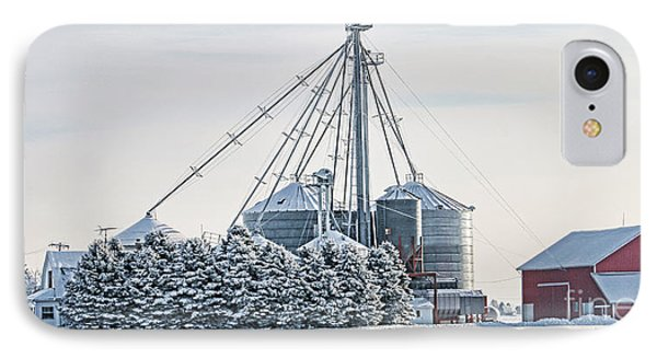 Winter Farm  7365 IPhone Case by Jack Schultz