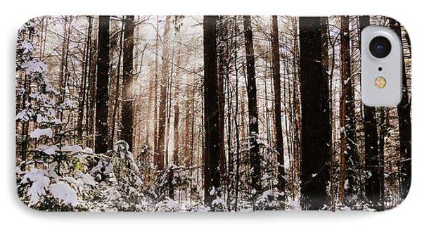 Winter Forest Phone Case by Avis  Noelle