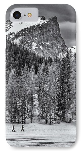 Winter Hike IPhone Case by Darren  White