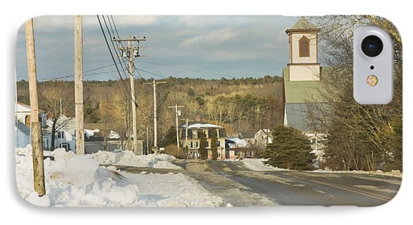 Winter In Round Pond Maine IPhone Case by Keith Webber Jr