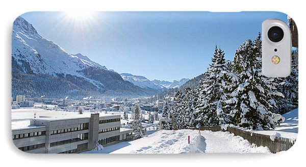 Winter In St. Moritz  Phone Case by Design Windmill