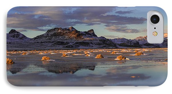 Winter In The Salt Flats Phone Case by Chad Dutson