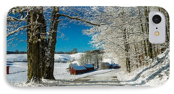 Winter In Vermont IPhone Case by Edward Fielding