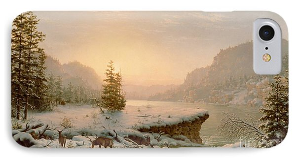 Winter Landscape IPhone Case by Mortimer L Smith