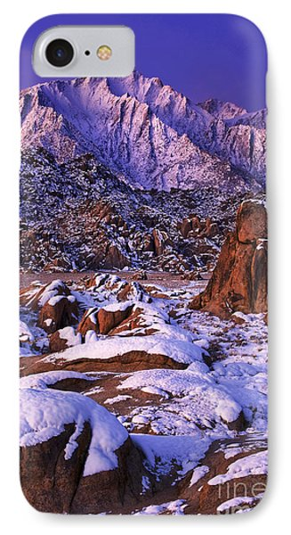 Winter Morning Alabama Hills And Eastern Sierras Phone Case by Dave Welling