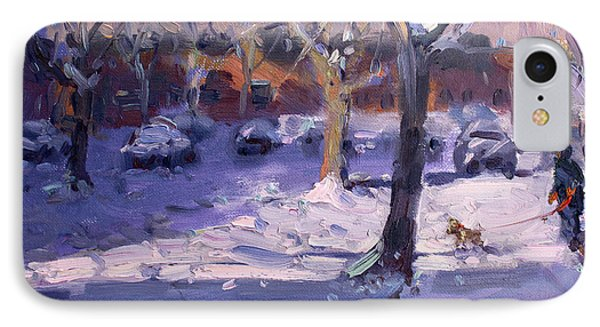 Winter Morning In My Courtyard IPhone Case by Ylli Haruni