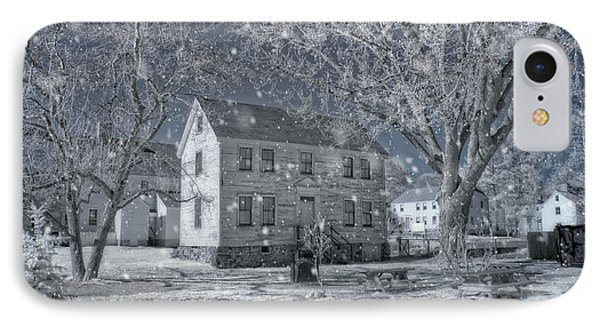 Winter Morning - Strawbery Banke - Portsmouth Nh IPhone Case by Joann Vitali