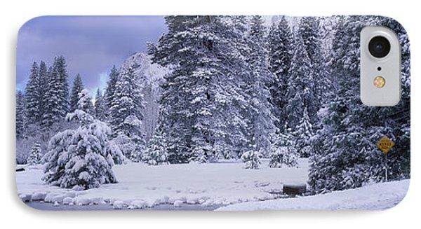 Winter Road, Yosemite Park, California IPhone Case by Panoramic Images