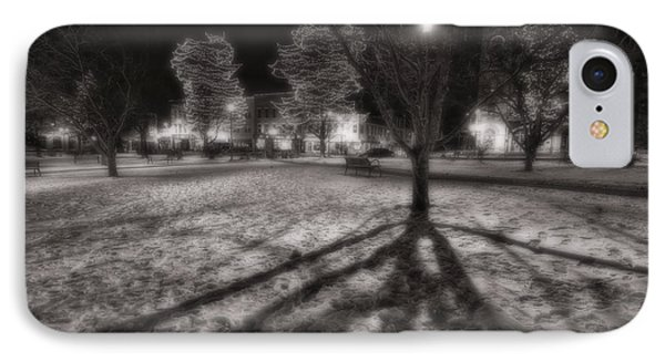Winter Shadows And Xmas Lights IPhone Case by Sven Brogren