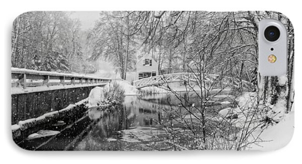 Winter Snow Storm In Somesville Maine IPhone Case by Keith Webber Jr